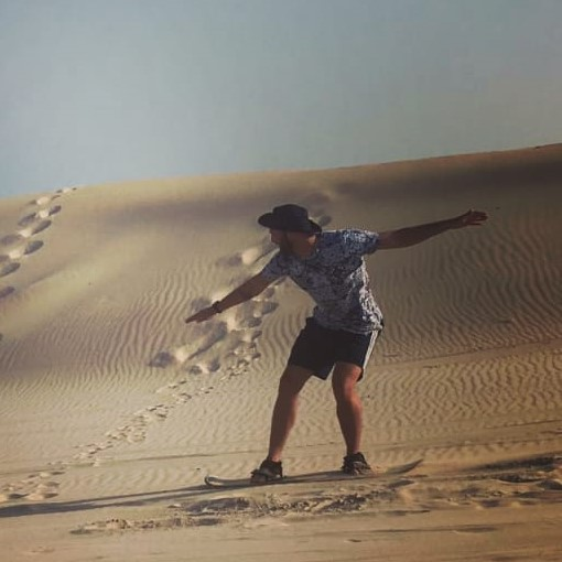 Sandboarding in Cape Town South Africa