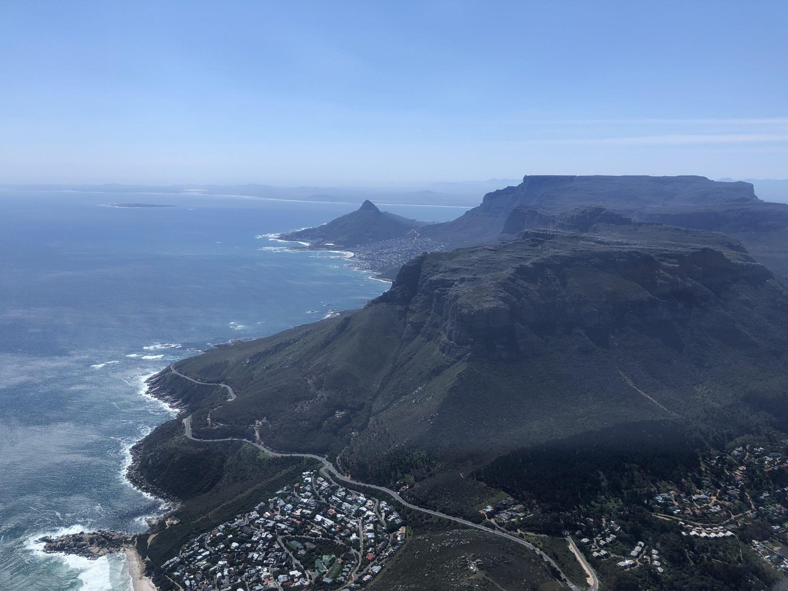 Aerial view of the Cape Peninsula in South Africa