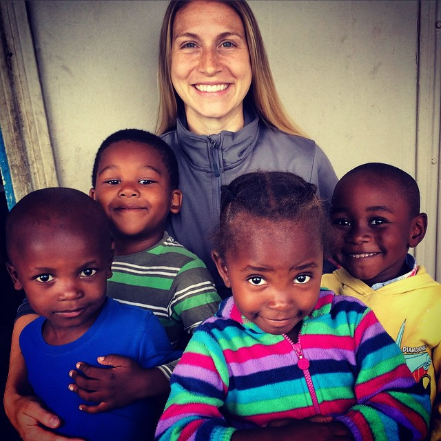 student at the Social work internship in South Africa